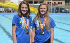 Livingston, Balkenbush Earn Top Swim Medals
