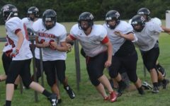 Eagle Football Players Settle Into New Offense